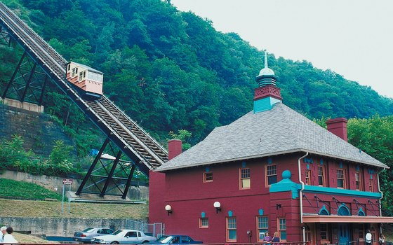 The Duquesne Incline is styled after centuries-old coal hoists.