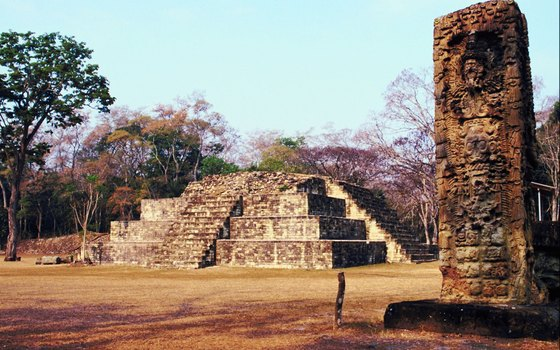 The Copan ruins complex is tucked into a valley in the Merendon Mountain Range.