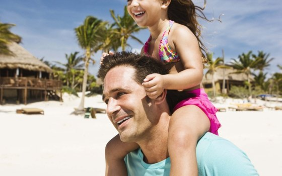 The white sand beaches and warm Caribbean waters of the Mayan Riviera are great for families.