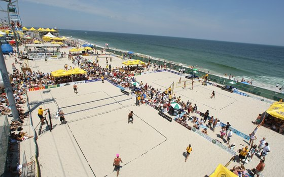 Beach volleyball championships in Seaside Heights, New Jersey