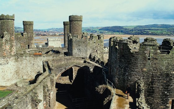 Conwy Castle overlooks the Welsh coast.