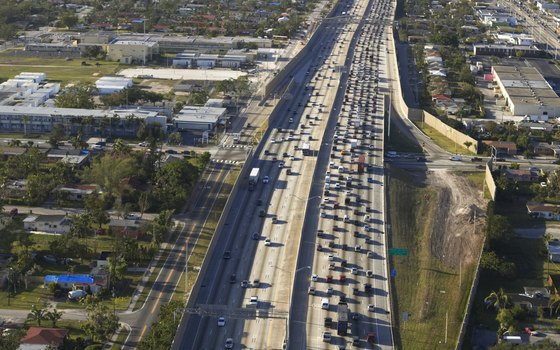 I-95's express lanes route 22,000 vehicles in Miami in each direction every day.