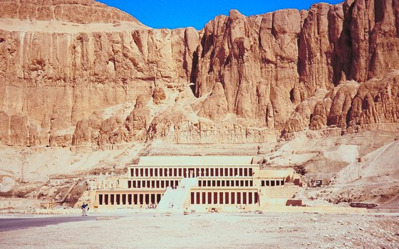 The Mortuary Temple of Queen Hatshepsut houses an intriguing mix of ancient art and decimation.