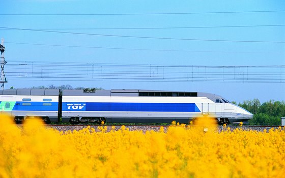 The TGV offers a scenic way to see the countryside.