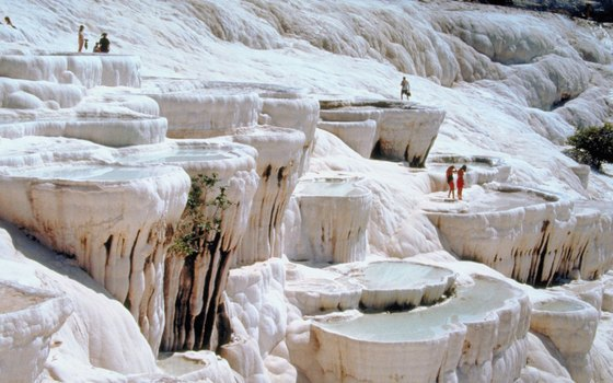 Hierapolis-Pamukkale is a UNESCO World Heritage site.