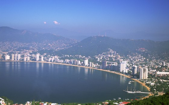 Acapulco is famous for its golden necklace of sandy beach.