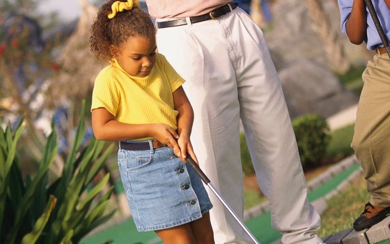 Miniature golf is one fun family activity for a Sunday night in Orlando.
