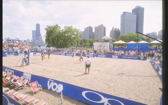 North Avenue Beach plays host to beach volleyball tournaments throughout the summer.
