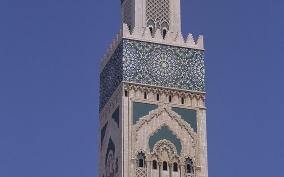 The Hassan II Mosque in Casablanca can accommodate up to 25,000 worshippers.