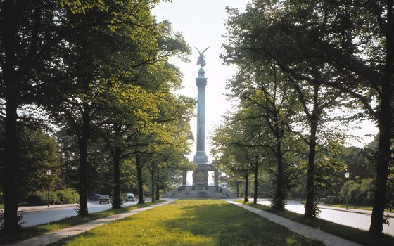 The Angel of Peace monument hovers over Munich's Maximilian Park.