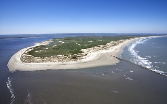 Aerial view of Cumberland Island.