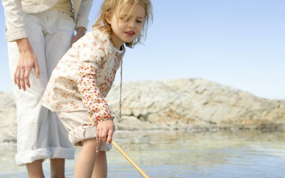 Children love catching crabs and minnows.