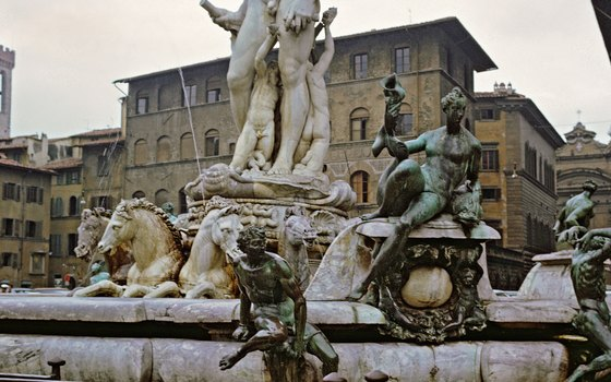 Piazza della Signoria's Nepture Fountain is a popular local meeting spot.