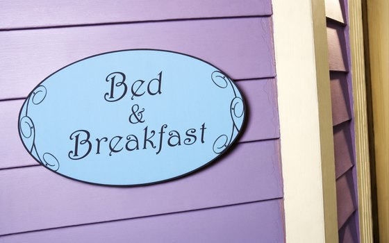 A bed and breakfast is more low key for a romantic weekend.