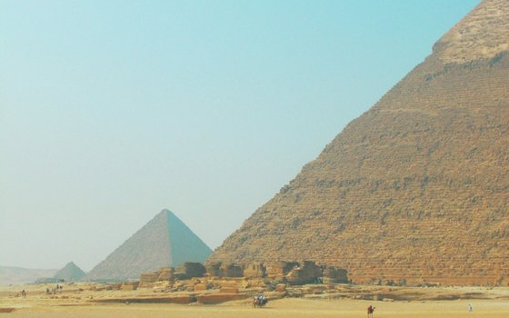 The pyramids at Giza are the best preserved of the seven ancient wonders.