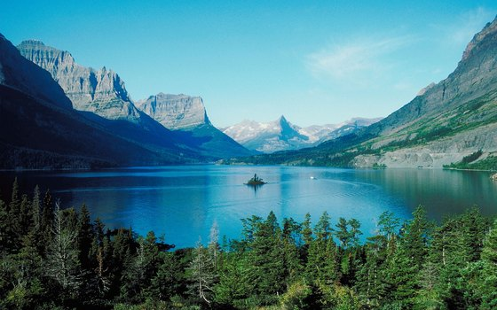 St. Mary's Lake at Glacier National Park is just 32 miles from East Glacier Park.