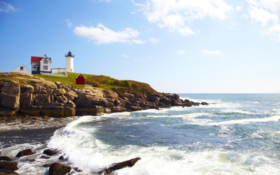 Lighthouses are a famliar theme on the Atlantic Coast.