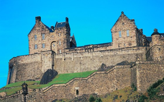 Edinburgh Castle hosts the annual Military Tattoo festival.