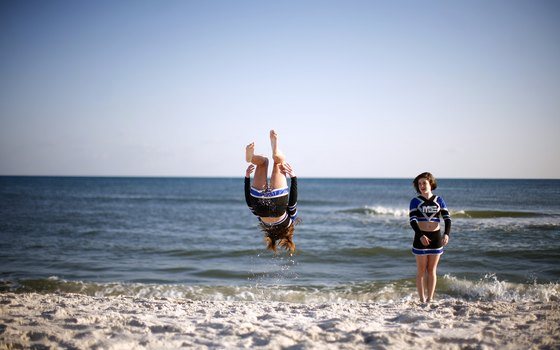 Pensacola area beaches are popular because of their fine white sand.