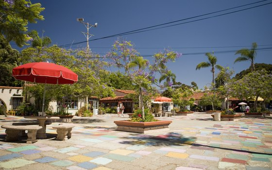 Spanish Village Art Center features colorful tile.
