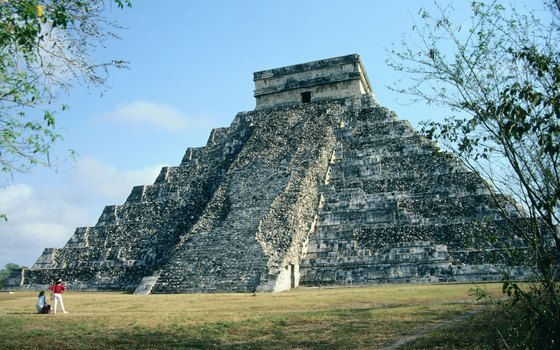 The Temple of Kukulkan was built between sometime between 800 and 1200 A.D.