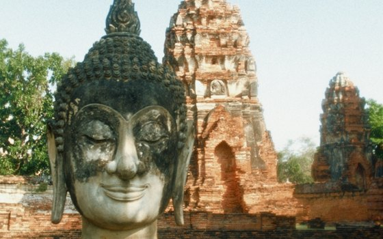 A Buddha statue is one of many in Ayutthaya.