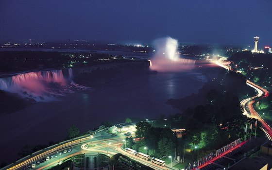 Lighting the falls is a tradition dating back to the 1860s.