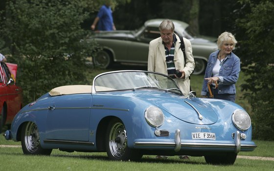 Porsche 356's are a major attraction at the car shows during the