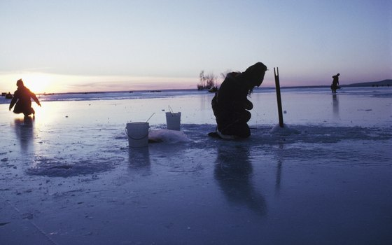 Ice fishing is also a popular wintertime activity in Dillon.