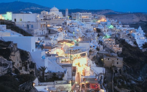 Santorini's dramatic scenery makes it a popular Greek island.