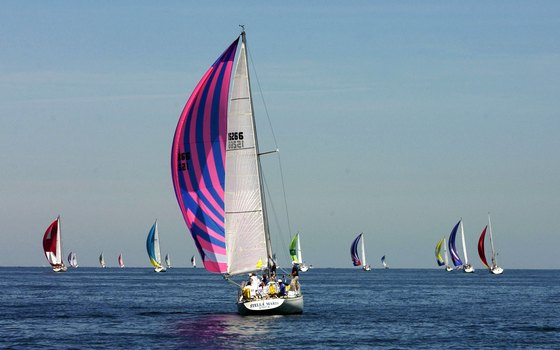 A sailing race from Port Huron on Lake Huron.