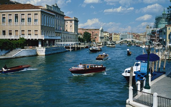 Venice's Grand Canal is the most heavily traveled in the city.