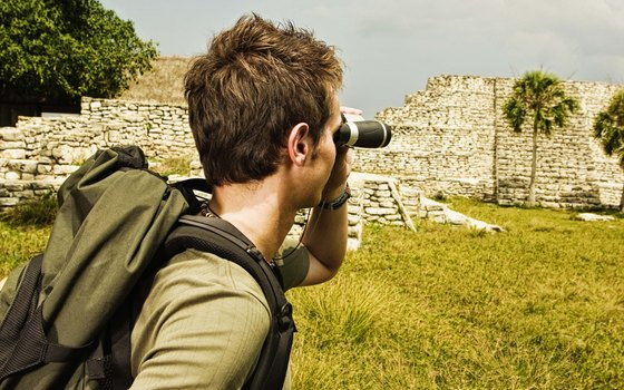 Visitors to Akumal can explore the ruins of Tulum to the south.