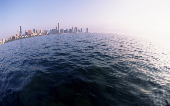 Lake Michigan provides 26 miles of lakefront for Chicago residents.