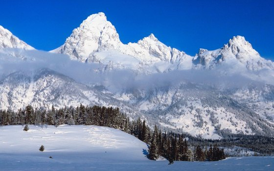 The Tetons lie in the Wyoming section of the Rocky Mountains.