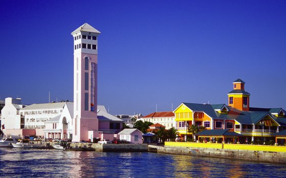 Nassua's harbor offers colorful Caribbean charm as well as upscale shopping.