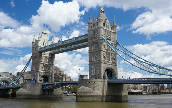 Stretching across the Thames, Tower Bridge is neighbors with the Tower of London.