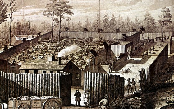 Andersonville is the site of a former Confederate Army prisoner camp.