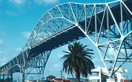 Visitors to Gulf-side beaches drive across Harbor Bridge from Corpus Christi.