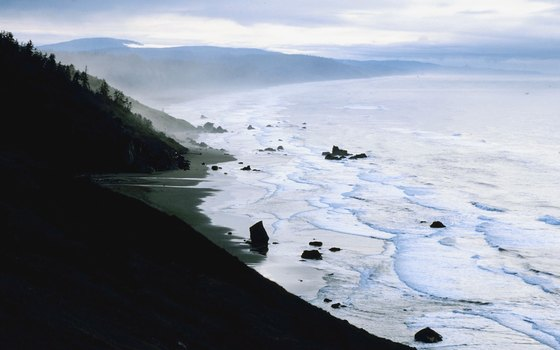 Concealed by the enormous trees of the Redwood Forest, California's Enderts Beach remains a private paradise.