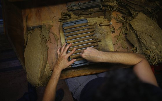Cigars are still hand-rolled in the Ybor City area of Tampa.