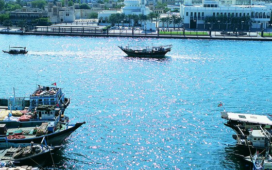 Dubai Creek separates Deira from the Bur Dubai section of the city.