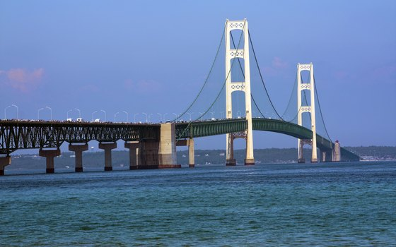 More than 11,000 people were involved in constructing the Mackinac Bridge.