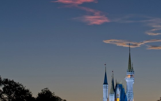 Cinderella Castle provides fabulous views in the night's horizon.