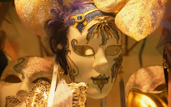 While window-shopping in Venice, you may come across elaborate masks.
