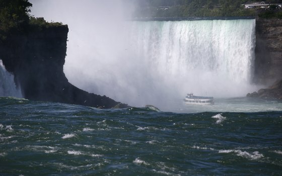 Get off the bus and feel the spray of Niagara Falls on the Maid of the Mist boat.