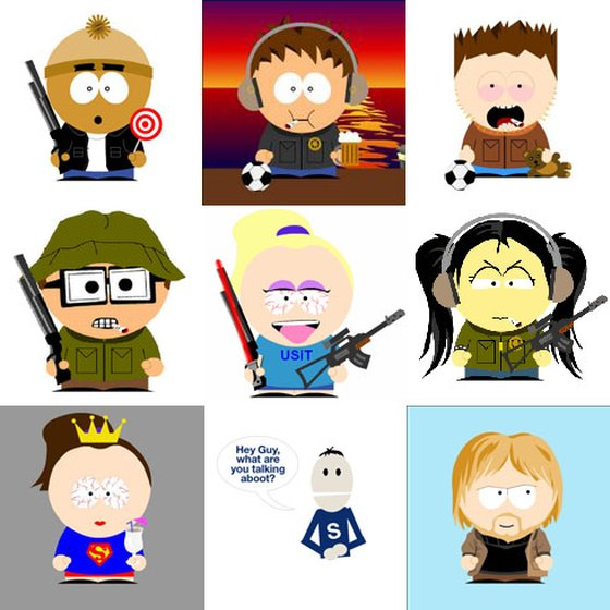 Avatars inspired by South Park.