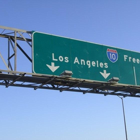 California's freeway system gives RV campers easy access to Los Angeles activities and attractions.