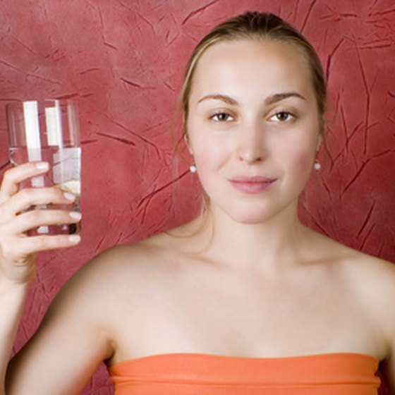 Drinking a glass of water can help a person stop hiccups.