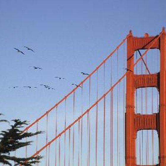 The Golden Gate Bridge is an iconic California image.